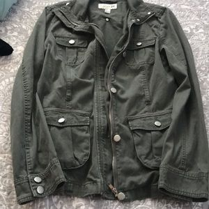 Forever 21 Fall Olive utility jacket